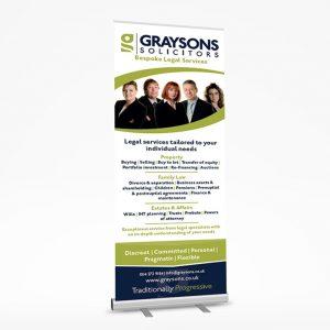 sheffield printers graysons roller banner