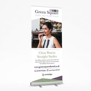 Green Square Dental Roller Banner - Sheffield Printers