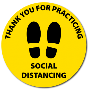 Social Distancing Floor Stickers Round