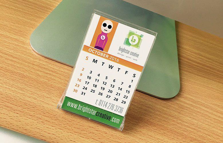 personalised desk calendars sheffield printers