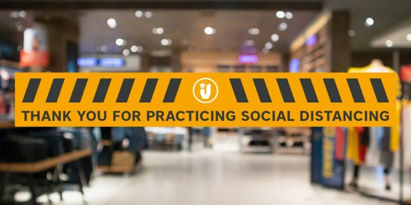 Social Distancing Floor Stickers in Sheffield
